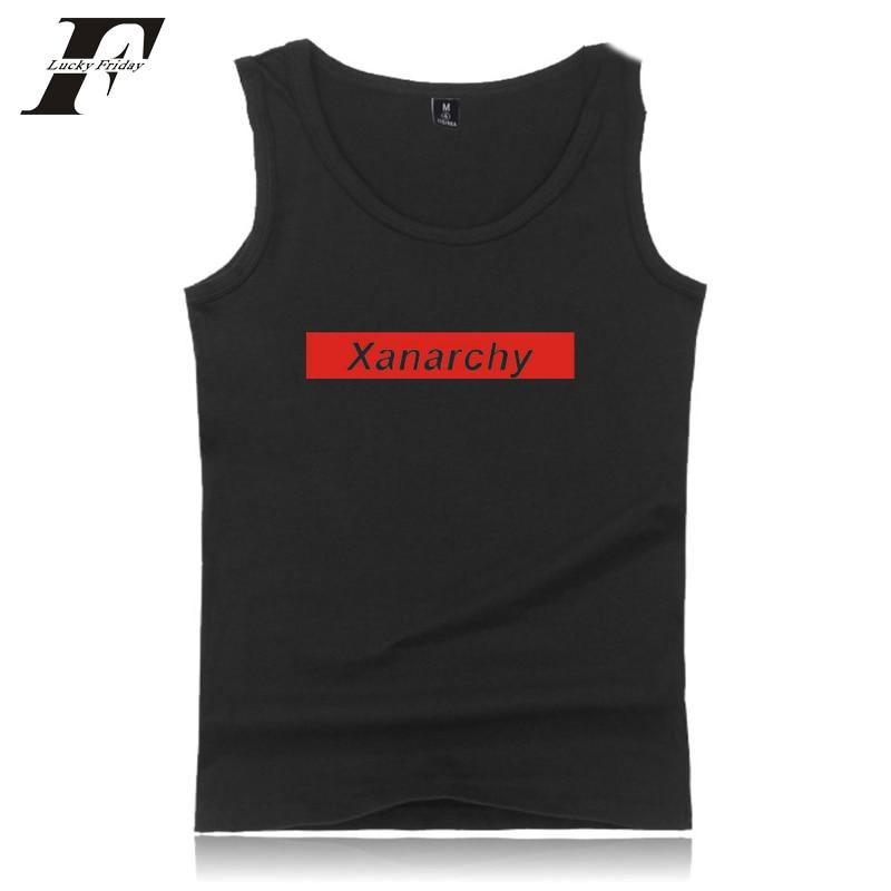 2018 Lil Xan-x Tank Tops Männer Anzug Bodybuilding Fitness Klassische Design Tank Top Rundhals Tops Tees Lil Xan-x