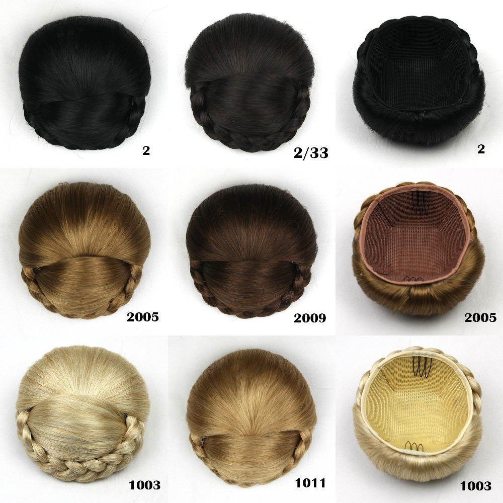 1 pcs cheveux pices rapide donut bun extension de marie chignons synthtiques cheveux brioches chignon - Postiche Chignon Mariage