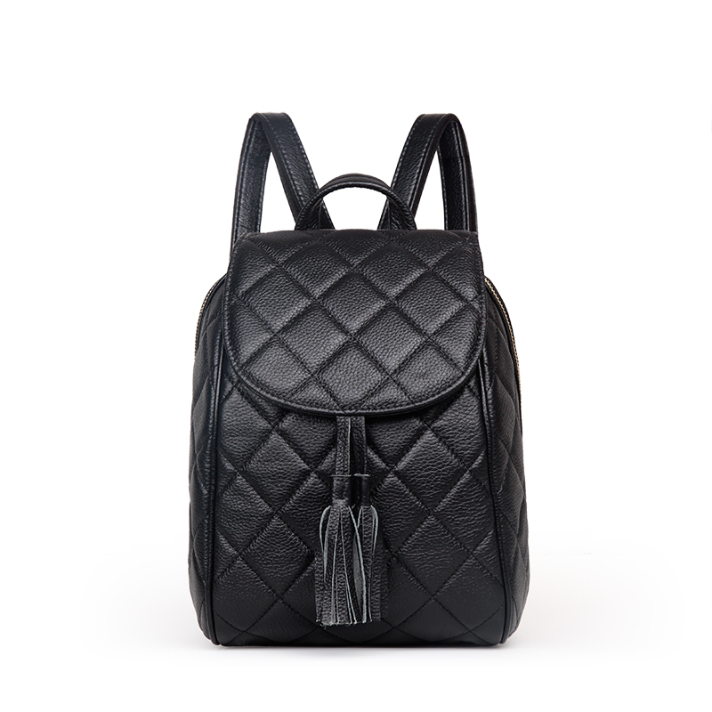 2016 New Designer Brand Fashion Genuine Leather Backpack Women Real Leather Bag School Bag цена