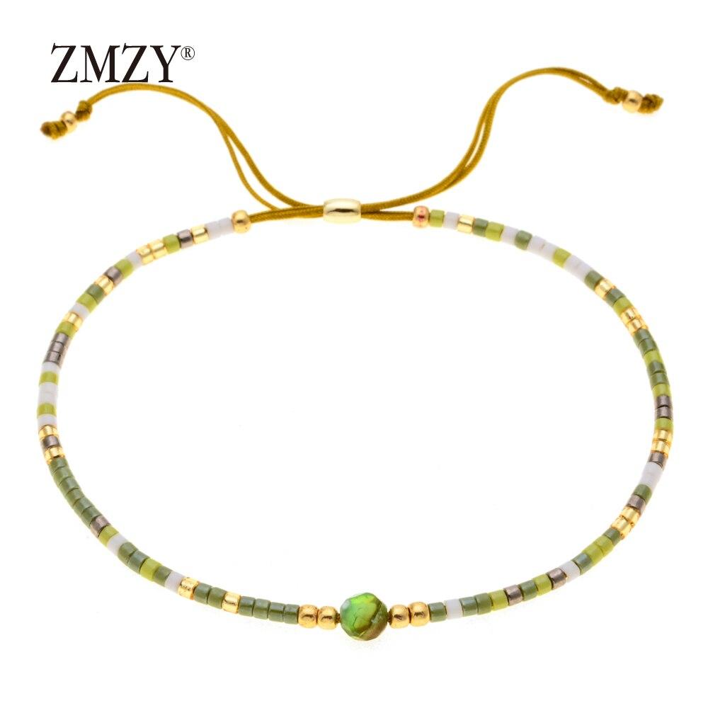 ZMZY Miyuki Delica, бисер, женские браслеты, ювелирные изделия дружбы, модные, сделай сам, Bijoux Femme, простые браслеты, Прямая поставка - Окраска металла: QSSL003-12