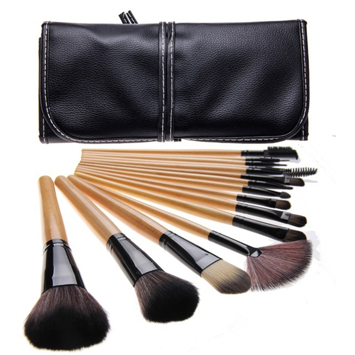 New 15 pcs Makeup Brushes Tools Set Nylon Hair Foundation Blush Powder Concealer Brush Make Up Cosmetic Kit+Carry Case new style professional women lady facial makeup tools cream foundation soft type cosmetic make up brush easy carry