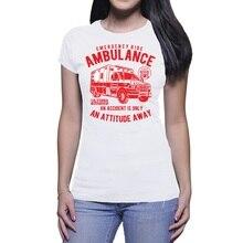 2019 nueva moda mujer camiseta DONNA VINTAGE ambulancia ilustración Casual Linda camiseta