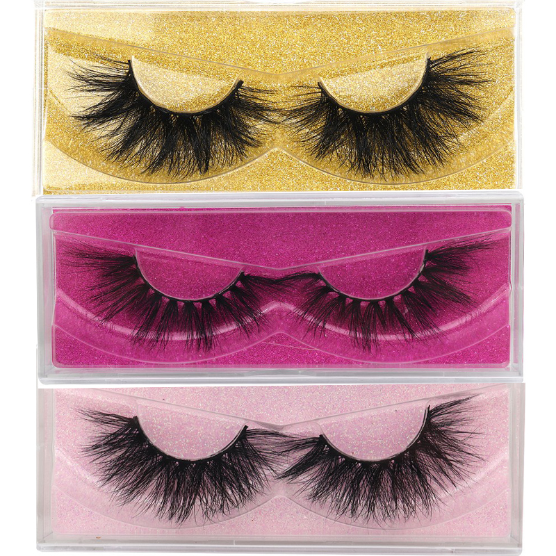 Multicolor Glitter Case 5D Mink Lashes Natural Handmade Volume Soft Lashes Long Eyelash Extension Real Mink Eyelash For Makeup