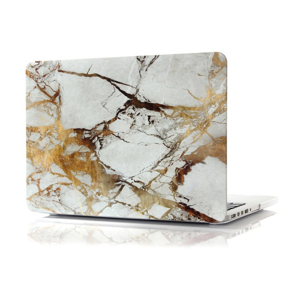 New Rubber Coated for MacBook air 13 inch Retina Display Marble Pattern Rubber Coated Cover