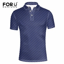 FORUDESIGNS Solid Striped Polo Shirt For Men Summer Polos Casual Short Sleeved Man Basic Camisa Polo Male Shirts Homme XS-XXXL