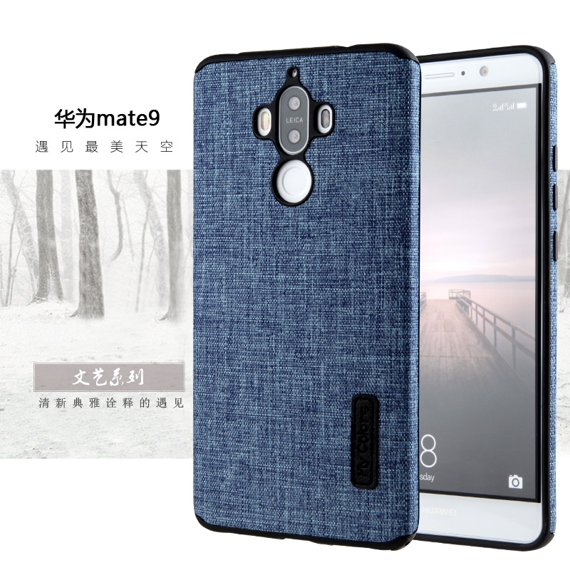 Luxury Cloth Phone Case For Huawei Mate9 Fashion Hit Color Full Protective back Cover Fresh literary style