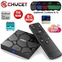 Chycet M96X 6.0 caixa de tv Android 1G + 8G S905X Quad Core wi-fi 3D 4 K jogos Media player miracast Smart TV Box Set top box s905x M96X