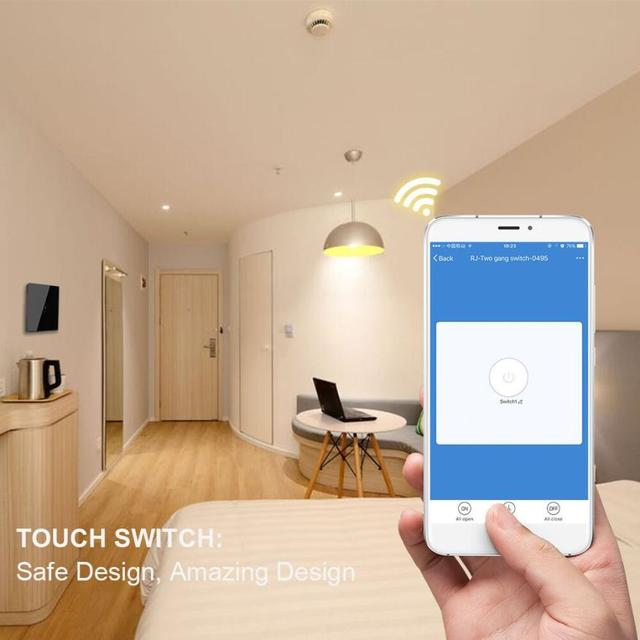 E-home Automation By Design Part - 25: HIPERDEAL Smart Home Automation Modules Smart WiFi Wall Switch EU Standard  Remote Switch For IOS Android