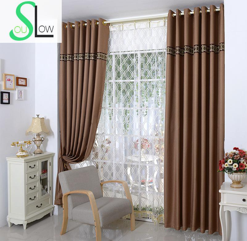 Slow Soul Grey Dark Coffee Purple Light Pure Linen Cotton Plaid Curtain Japan Curtains For