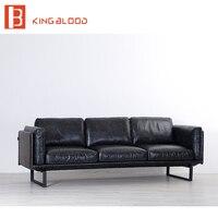 Современный простой кожаный диван дизайн мебели в Филиппины см. фото