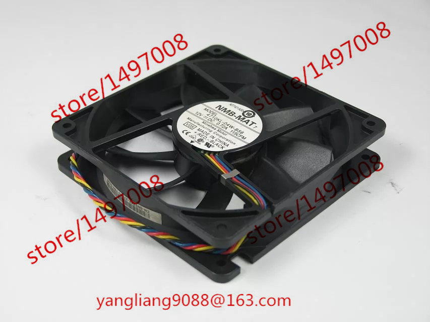 NMB 4710KL-04W-B56, V05 DC 12V 0.72A, 120x120x25mm 4-wire 90mm Server Square cooling fan Free Shipping 20g pure horny goat weed epimedium extract powder 98% icariin male health man sex pproducts