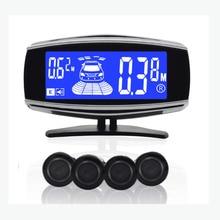 car parking system 4 sensors blue LCD parking sensors  parking assistance 18.5mm waterproof sensors car parking