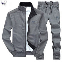 XIYOUNIAO new Fashion Spring Autumn Men Sportswear 2 Piece Set Sporting Suit Jacket+Pant Sweatsuit Clothing Tracksuit