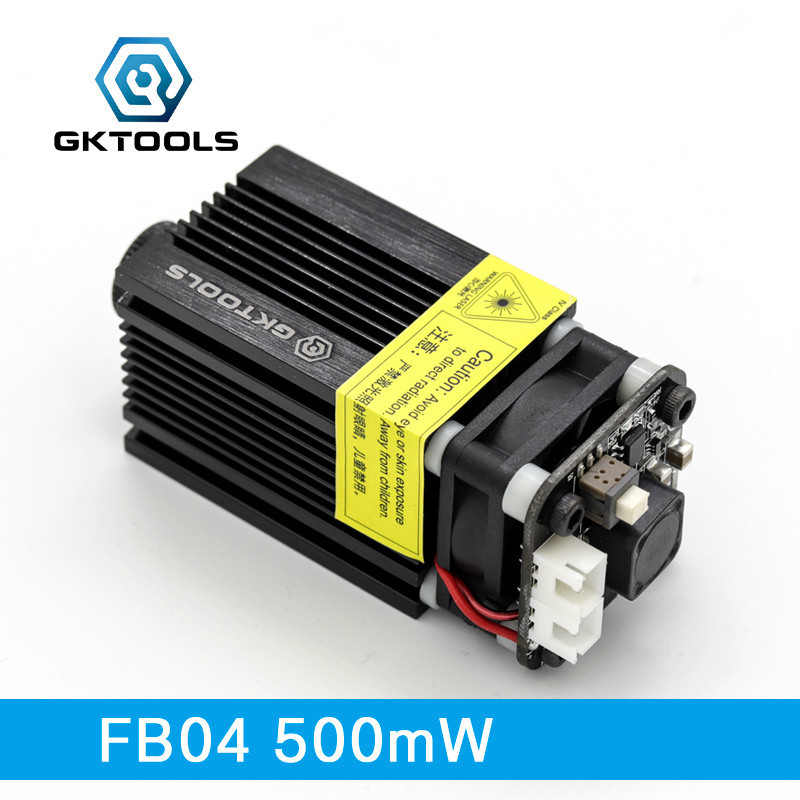 GKTOOLS,405nm 500mW Blue Laser Head Diode Cutting Module For DIY CNC Laser Engraver Support TTL/PWM Power Adjustable FB04-500 blue laser head engraving module wood marking diode 2 5w glasses circuit board for engraver wood metal plastic carving mayitr