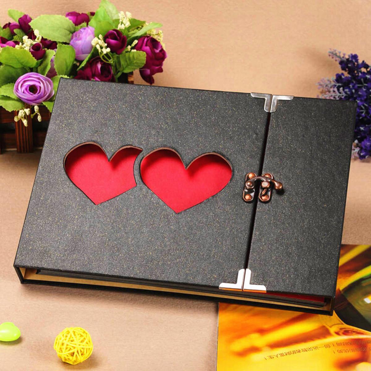 How to scrapbook a photo album - Hot Retro Wedding Paper Metal Gallery Diy Photo Album In Home Decoration 27x19x3 5cm
