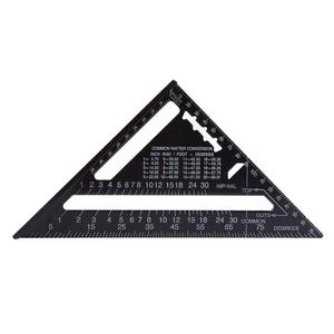 Image 3 - 7/12inch Aluminum Alloy Triangle Angle Ruler Squares for Woodworking Speed Square Angle Protractor Rulers Measuring Tools