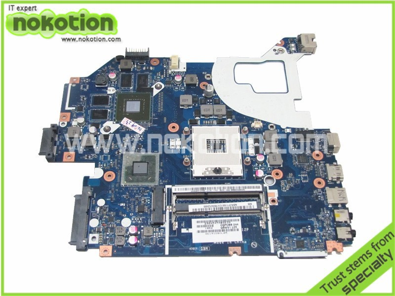 где купить NOKOTION NBRZP11001 LA-7912P laptop motherboard for acer aspire V3-571G intel hm77 NVIDIA with graphics card дешево