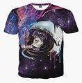 Nuevo espacio del mono T shirt 3d galaxy print mono que fuma camiseta para hombre de la aptitud hispter marca tops camisetas de moda