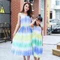 2016 семьи соответствующие наряды матери-дочери семья платья посмотрите соответствия мать дочь одежда чешского платья одежда