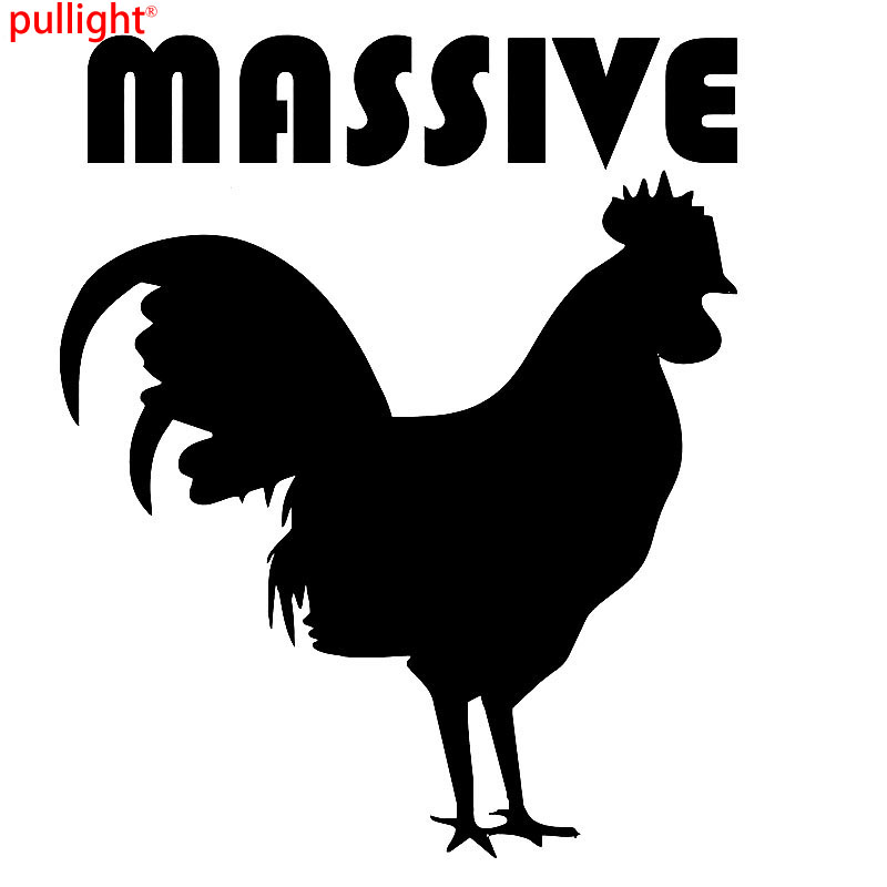 Massive Chicken Funny Van Car JDM Vinyl Decal Sticker in Car Stickers from Automobiles Motorcycles