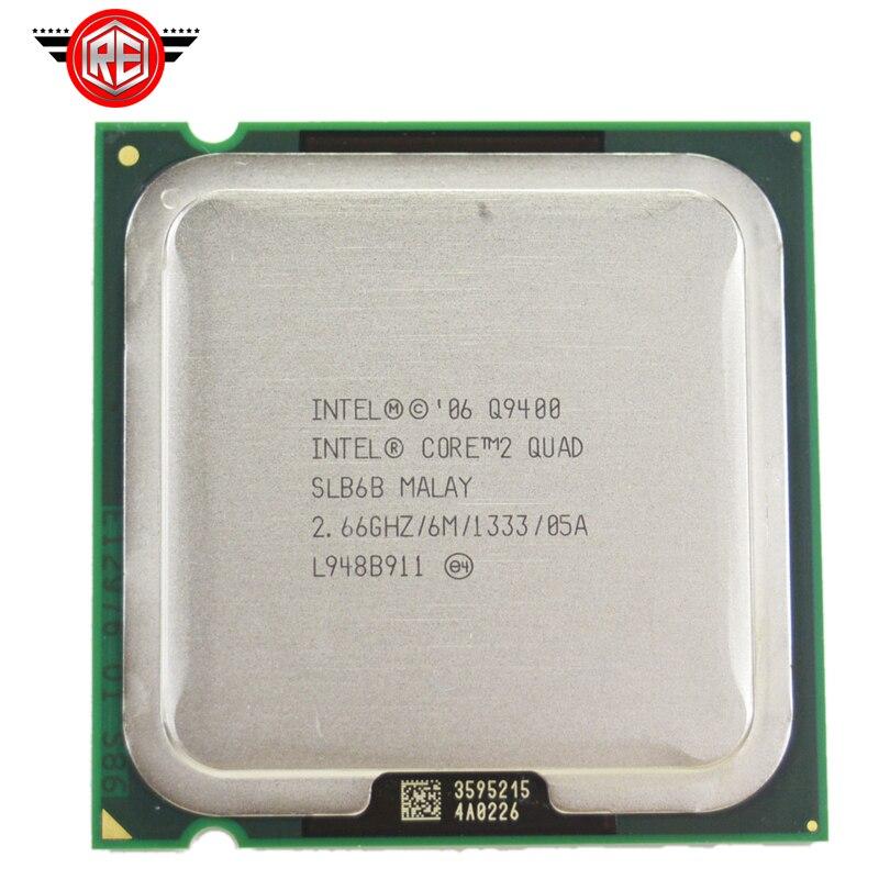 Intel Core 2 quad q9400 Processor 2.66 ГГц 6 МБ L2 Кэш ФСБ 1333 настольного LGA 775 Процессор