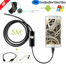 R&N Android Phone Inspection Camera 2M 5M 7.0mm lens Endoscope inspection Pipe IP67 Waterproof 720P HD micro USB spy mini Camera