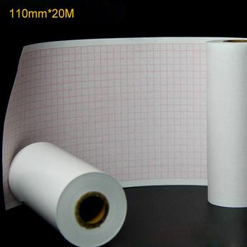 Rolka papieru termicznego ekg papieru 110mm * 20 M dla oznaczone znakiem CE cyfrowy 12 prowadzi 3 6 kanał maszyna EKG ECG600G papier izolacyjny (1 sztuk) tanie i dobre opinie CN (pochodzenie) 1 ply 110mm*20M Recyklingu pulpy TDOUBEAUTY-20M Papier toaletowy