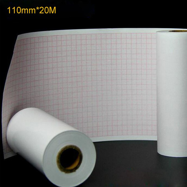 TDOUBEAUT Thermal paper Roll ECG Paper 110mm*20M for CE Marked Digital 12 Leads 3/6 Channel ECG Machine ECG600G Insulation Paper