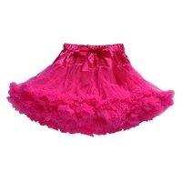 MOCH Bebek kızlar şifon kabarık tutu Prenses parti etekler Bale dans aşınma S sıcak pembe