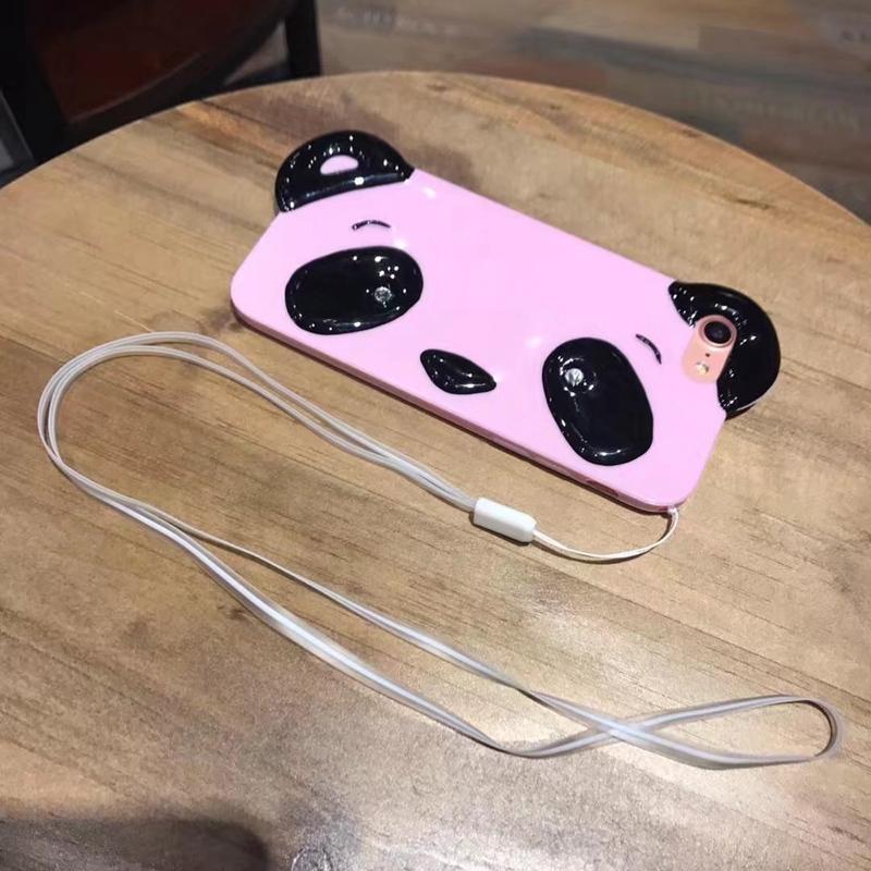 HTB18kAQRpXXXXa1XpXXq6xXFXXX1 - Cute Cartoon 3D Chinese Panda Ears & Eyes Transparent Coque TPU Silicone Soft Clear Panda Phone Case For iPhone 6 6S 7 7 Plus PTC 286