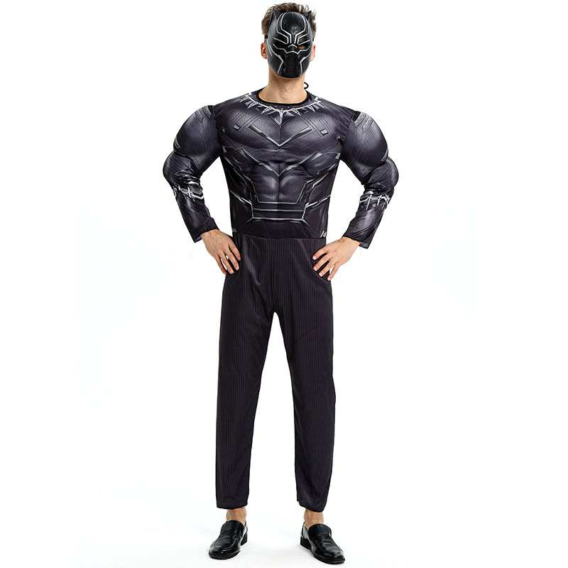 Black Panther Costumes Kids Men Halloween Costume Captain America Civil War Movie Marvel Black Panther cosplay SuperHero Suit image