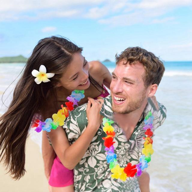 Hawaiian Party Artificial Flower Necklace Leis