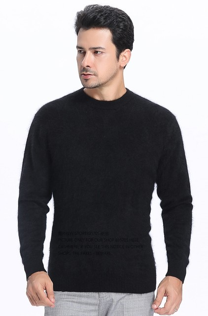 Sales Promotion Winter New Brand Men's High O Neck 100 Mink Cashmere Sweater Half Turtleneck Pullover man christmas masculina 50