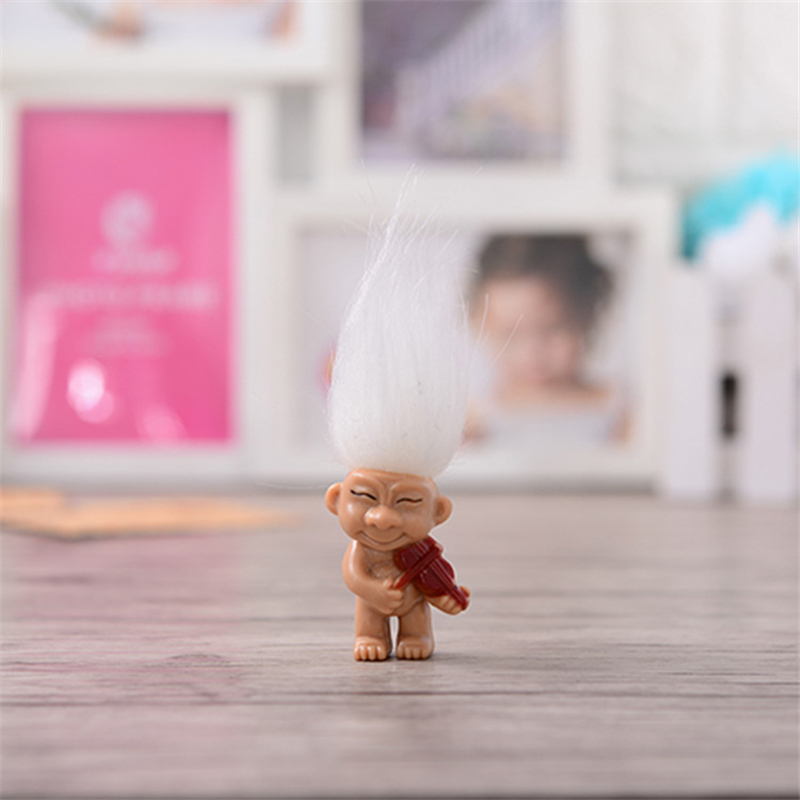 8pcs Colorful Hair Troll Doll Family Members Kindergarten Boy Girl Trolls For Children Birthday Gift Set In Action Toy Figures From Toys