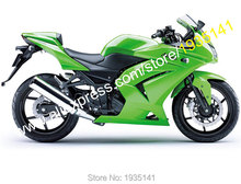 Hot Sales,Body Kit For Kawasaki Ninja ZX 250R ZX250 2008-2012 EX250 08-12 Full Green ABS Motorbike Fairings (Injection molding)