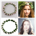 Forest Girl fruit garland wreath full headdress head ring bracelet photo photograph photography seaside