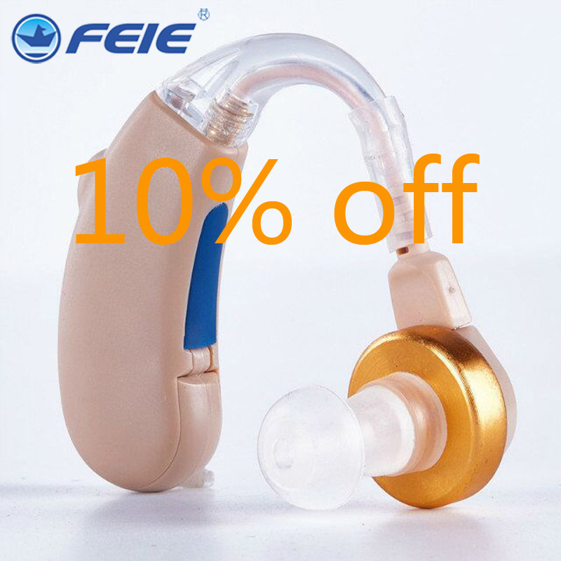 Analog Hearing Aid Portable Adjustable Tone Headphone Hearing Amplifier S-288 Drop Shipping With Battery A675