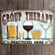 Cerveza Retro placa de Metal cartel mural de pintura de decoración Vintage de la lata de la etiqueta engomada del arte para casa Bar Pub