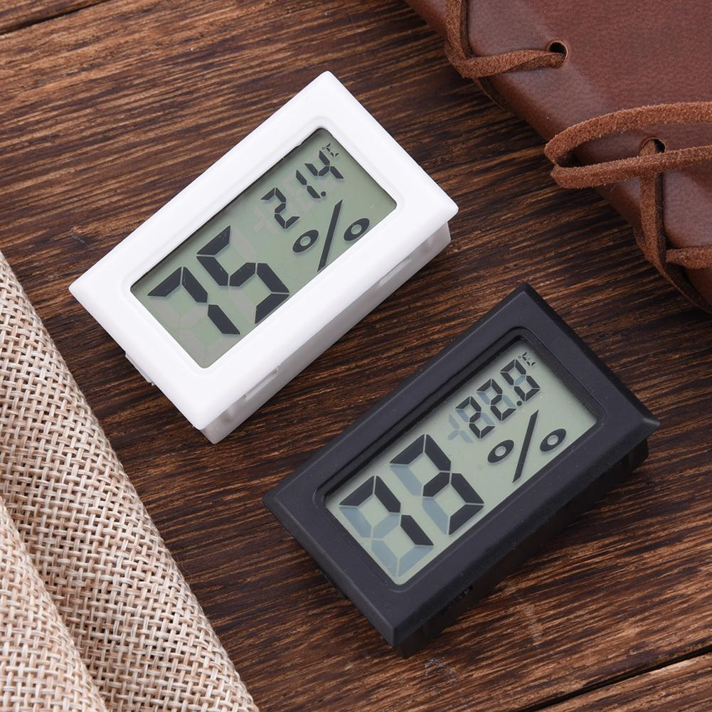 Wireless LCD Digital Indoor Thermometer Hygrometer Mini Temperature Humidity Meter Black White 1PC J3 dc106 digital indoor desk thermometer humidity temperature hygrometer meter white yellow