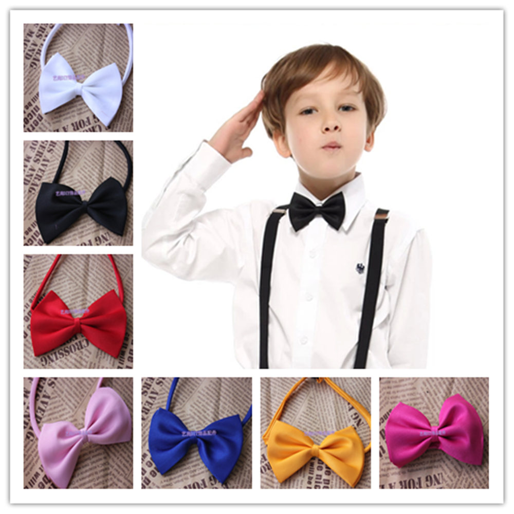 2017 New Arrival Cute Kids Boys Bow Tie Children Butterfly Type Necktie 1 Pcs 17 Colors pets bow ties solid color