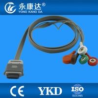 Compatible Biomedical Instruments BI9800/ BI9000 holter ECG cable 5leads Snap AHA