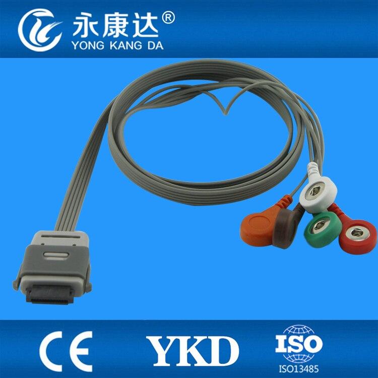 Instruments biomédicaux compatibles BI9800/BI9000 holter ECG câble 5 fils Snap AHA