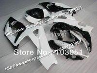 Injection molding custom for 2005 suzuki gsxr 1000 fairings K5 2006 GSXR 1000 fairing 05 06 glossy white with black HM75