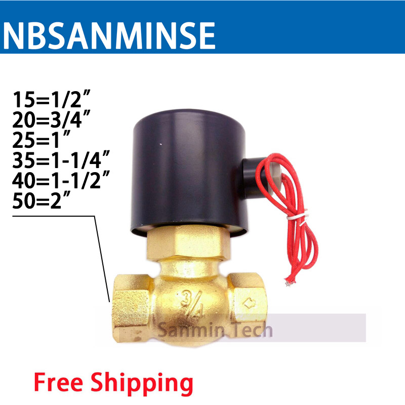 US ( 2L ) 1/2 3/4 1 1-1/4 1-1/2 2 Series Brass Valve ( Steam Style ) Guide Control Type Electric Solenoid Steam Valve Sanmin 1 2bspt 2position 2way nc hi temp brass steam solenoid valve ptfe pilot