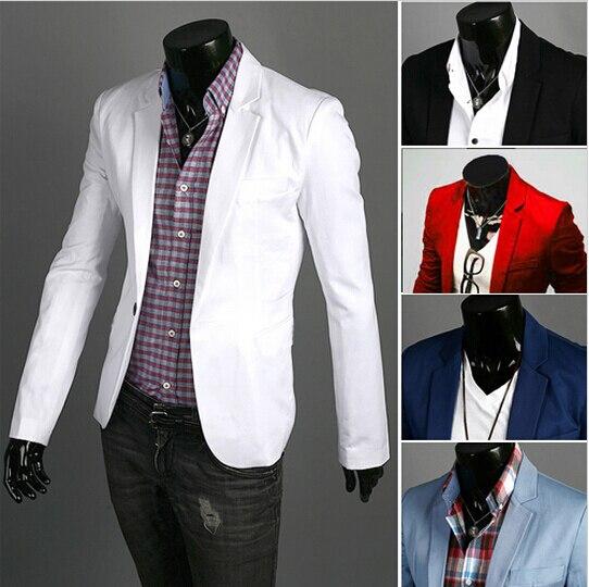 Chaqueta de los hombres 2019 nueva llegada ropa de moda salvaje botón terno traje chaqueta de los hombres Casual Slim Fit Blazer de traje masculino