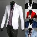 Homens Blazer 2017 Nova Chegada Roupas Da Moda Selvagem Único Botão terno terno dos homens Jaqueta Casual Slim Fit Suit blazer masculino