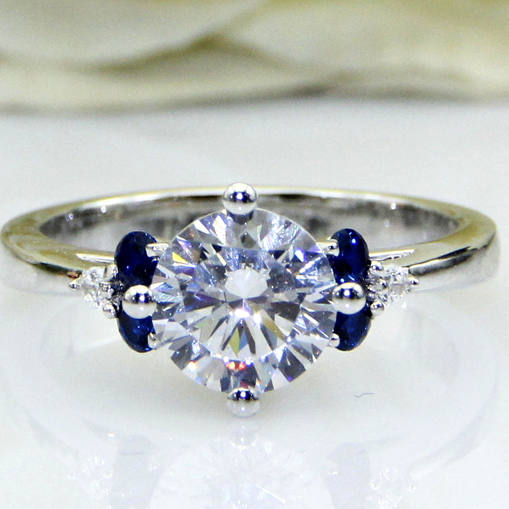 stone pin engagement ring moissanite quickcrafter setting sapphire and