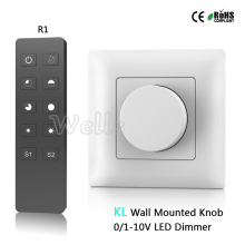 Free shipping KL High voltage AC85-265V 0-10V Output 1 channel 0-10V signal AC input relay output Wall Mounted Knob led dimmer