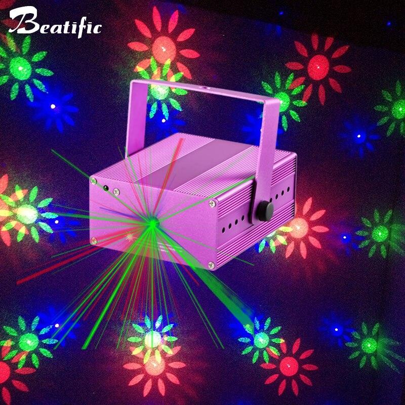 20 motif Parti RVB Lumières Laser Projecteur Boule Magique Éclairage de Scène Effet Coloré ktv DJ Disco Lumière Musique pour La Maison décor