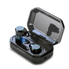 TWS True Wireless Earbuds Bluetooth 5.0 Earphones Touch Control Headset IPX6 Waterproof Earphone with 3000 MAh Power Bank